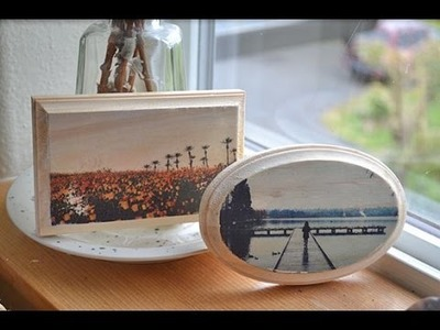 How to Transfer a Photograph to Wood with Mod Podge Tutorial