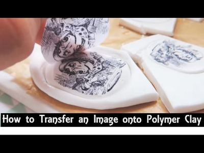 How To: Transfer an Image onto Polymer Clay   Make FIMO Clay Charms with Printed Pictures On