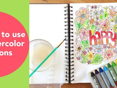How to use watercolor crayons with a FREE Coloring Page Download