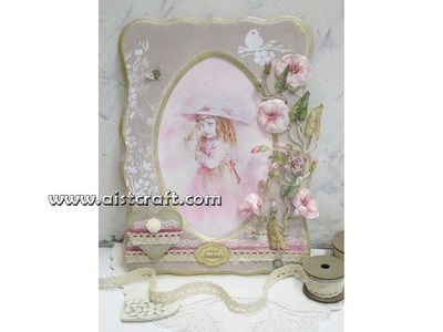 Mixed media. Sospeso trasparente tutorial. How to make vintage style frame.