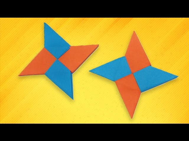 Origami Easy How To Make A Paper Ninja Star Shuriken