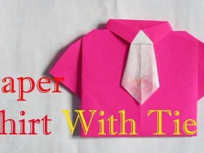 Origami Shirt & Tie - Origami Shirt With Tie