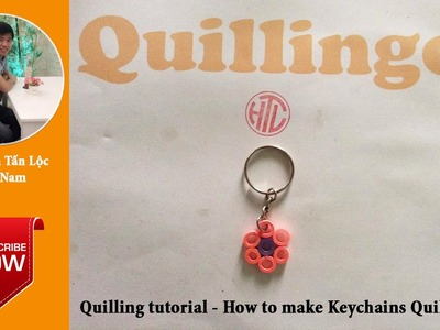 Quilling tutorial basic - How to make Quilling Keychains 02