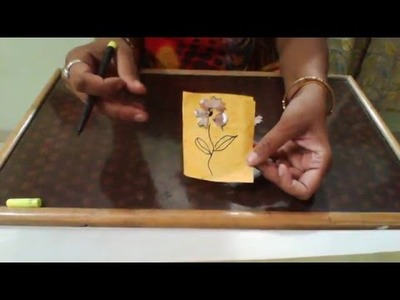 Reuse of pencil waste, craft work for kids with pencil west, how to make a card,