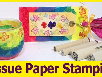 Stamped Votive Holder. How to Stamp on Uneven Objects. Stamp School