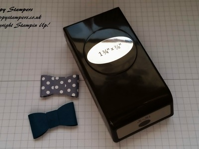 Stampin Up! How to make a cute bow from your oval punch