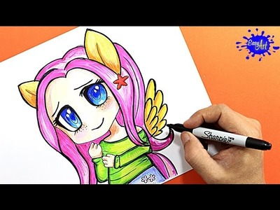 Como pintar a Fluttershy | how to paint Fluttershy | Easy art