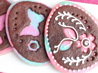 Cut-out easter egg cookies - How to make easy Easter cookies - Family friendly project