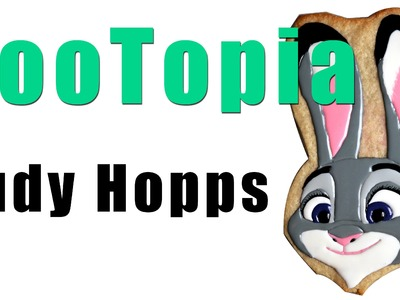 Disney's Zootopia Judy Hopps Cookie Icing. Cake Topper How To Tutorial
