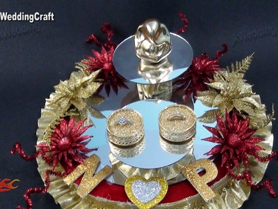 DIY Engagement. Wedding Ring Platter | How to make | JK Wedding Craft 078