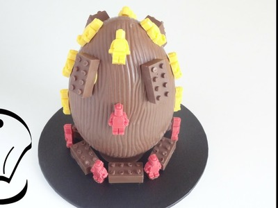 Easy Chocolate Lego Decorated Easter Egg How To by Cupcake Savvy's Kitchen