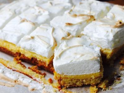 Easy recipe: How to make lemon meringue slice