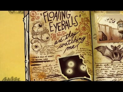 Gravity Falls Tutorial How To Draw The Floating Eyeballs