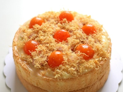 Hell's Kitchen 2016 - How to make salted egg cake recipe Savoury Sponge Cake Recipe
