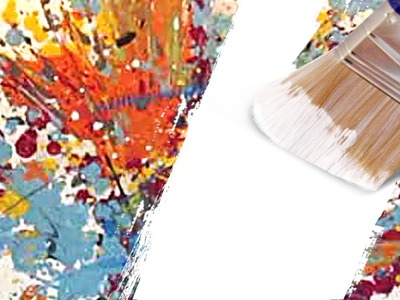 HOW-TO! An easy way to reuse. recycle an old canvas for painting, using gesso