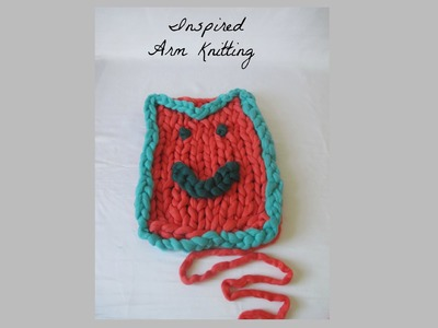 How to Arm Knit the Floating Chain Stitch