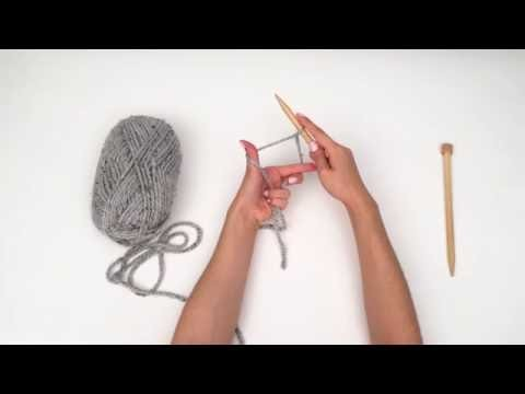 "How To Cast On In Knitting By BrennaAnnHandmade. ""How To Knit For Beginners"" Series #2"