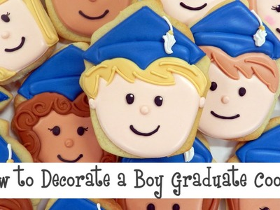 How to Decorate a Boy Graduate Cookie