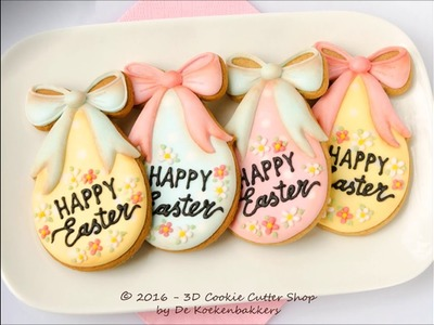 How to decorate an Easter Egg cookie with Royal icing