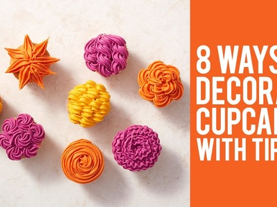 How to Decorate Cupcakes with Tip 105 – 8 ways!