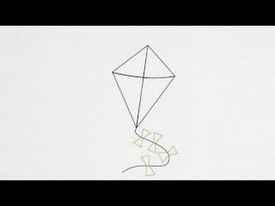 How to draw a kite step by step | Drawing School