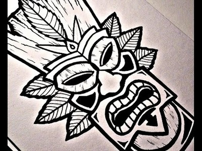 How To Draw a TIKI MASK