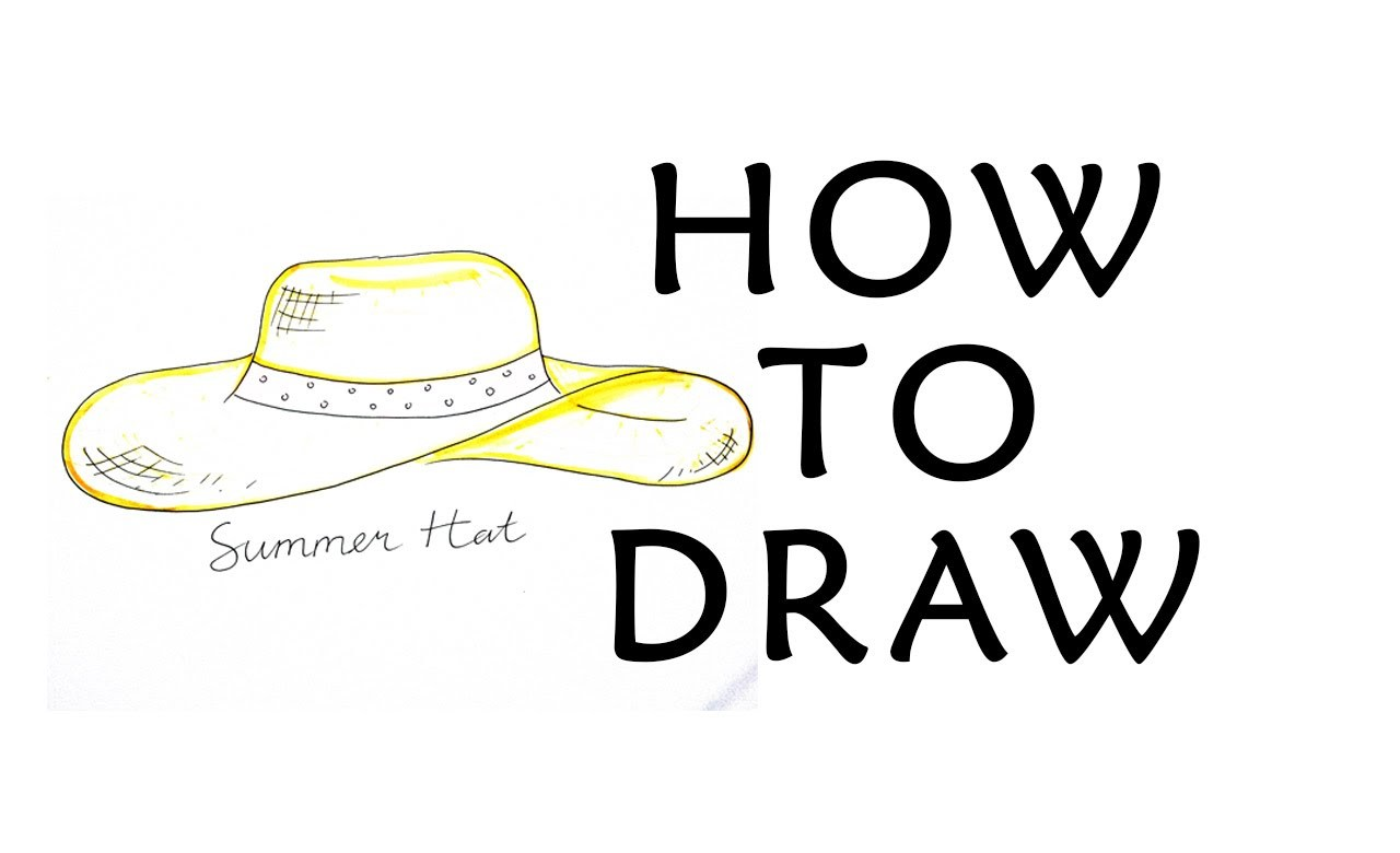 HOW TO DRAW ACCESSORIES - SUMMER HAT