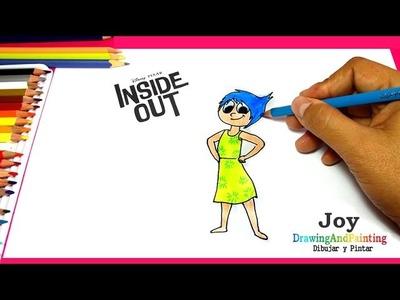 How to draw and paint JOY (Inside Out)   Cómo dibujar y pintar a ALEGRIA (Intensamente)