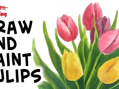 How to draw beautiful tulips