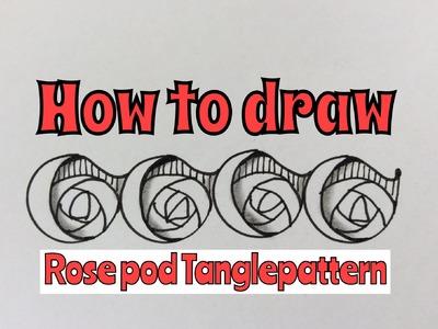 How to draw Rosepods tanglepattern by Artzyfartzy