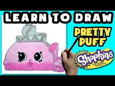 ★How To Draw Shopkins: Pretty Puff★ Learn How To Draw Shopkins, Drawing Shopkins Limited Edition