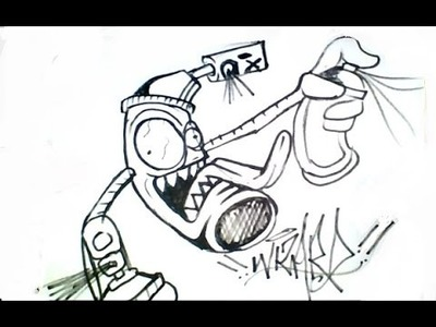 How to draw spray can - como dibujar una lata de aerosol