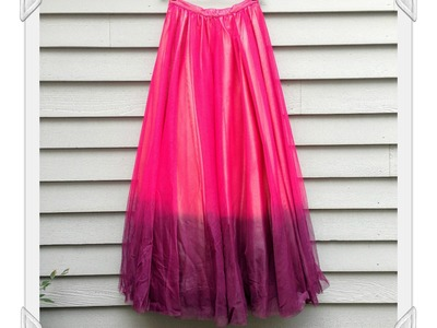 How to Dye Tulle and Polyester with Rit DyeMore