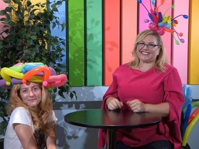 How To Make a Balloon Hat- Woven Bonnet Style