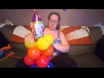How To Make a Colorful Clown Balloon Decoration