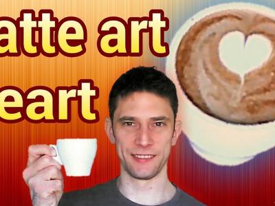How to make a Latte art heart tutorial