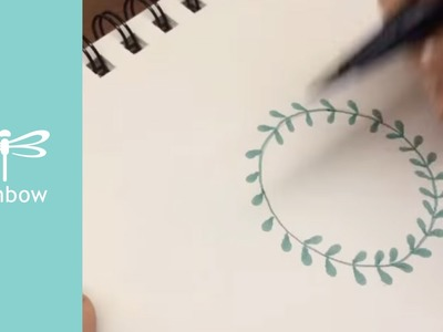 How to make a laurel wreath | Tombow Dual Brush Pens