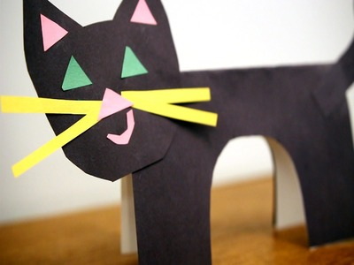How To Make A Paper Cat - Easy Steps for A Cute Black Cat