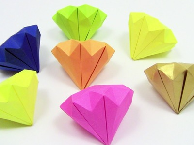 How to Make a Paper Diamond Origami easy simple | Como fazer origami diamante - Yakomoga Origami
