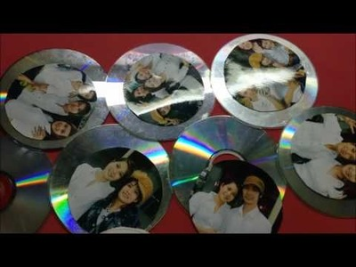 How To Make a Photo Frame Out of Waste CD & Spindle from CD