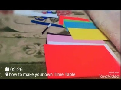 How to make a time table with natasha