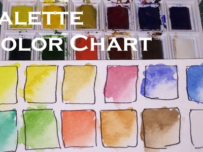 How To Make a Watercolour Palette Color Chart Watercolor