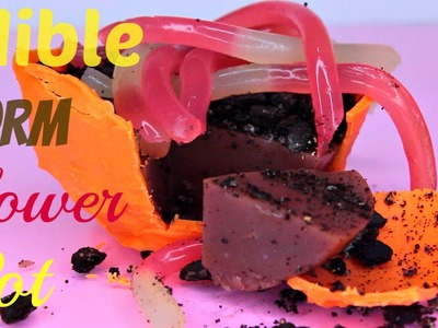How to Make ALL EDIBLE Flower Pot with Earth Worms