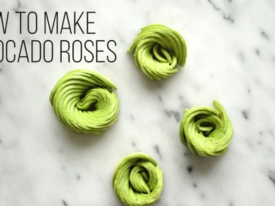 How to Make Avocado Roses