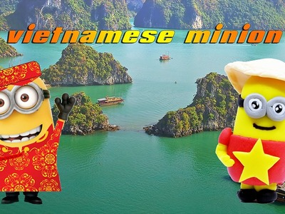 How To Make Cute Vietnamese Minion Playdough Air Dry Clay - Play Doh Minions Travel In Vietnam