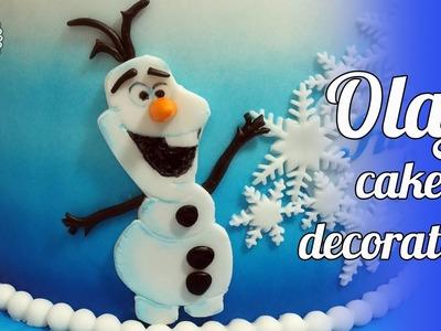How to make fondant Olaf cake decoration. Jak zrobić Olafa z masy cukrowej