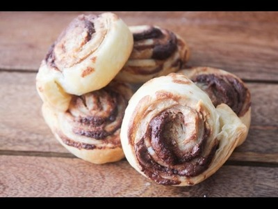How To Make Peanut Butter And Nutella Pinwheels - By One Kitchen Episode 431