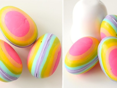 How to Make Rainbow Chocolate Eggs + GIVEAWAY! CHOCOLATE GIVEAWAY!