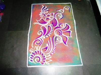 How to make simple poster rangoli design