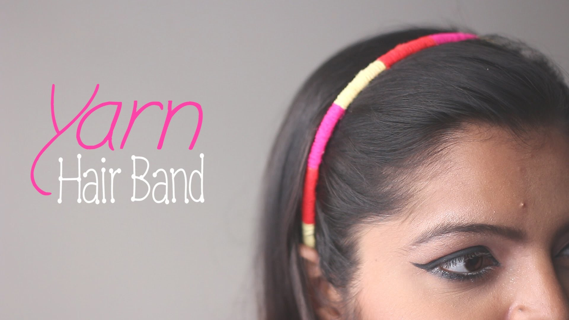 How to Make : Yarn Hair Band